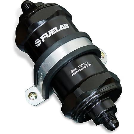 amazon.com: fuelab 818011 black 10 micron standard length in-line fuel  filter,small : automotive  amazon.com