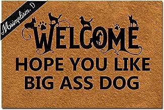 Msimplism.D Home Decor Funny Doormat Welcome Hope You Like Dog Big Dog Monogram Doormat Indoor Outdoor Rubber Welcome Mat ...