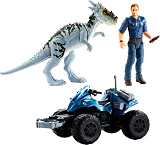 Jurassic World Vehículo con dinosaurio de la película, juguete niños +4 años (Mattel GCV78)