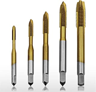 TiCN Coated YG1 K5 Series High Speed Steel Metric Spiral Pointed Tap D5 Tolerance M6-1.0 Thread Size Plug Chamfer Round Shank with Square End