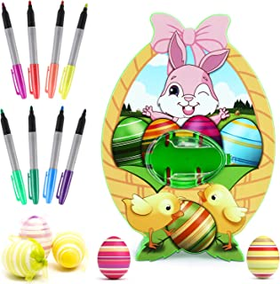 Philonext Easter Egg Decorations kit,Easter Egg Spinner,Egg Decorator Machine with 8 Colorful Quick Drying Markers
