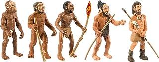 Safari Ltd Safariology Evolution of Man Historical Toy Figurines Including Australopithecus Afarensis, Homo Habilis, Homo ...