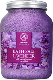 Sea Salt Lavender with Natural Lavender Essential Oil 1300g - Lavender Bath Salts - Lavanda Salt - Best for Good Sleep - S...