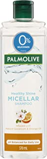 Palmolive Micellar Hair Healthy Shine Natural Geranium and Orange Oil 0 percentage silicones, 370mL