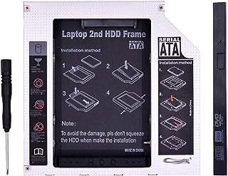 CMDZSW Aluminium SATA naar PATA IDE Second Hard Disk Box 12.7MM 9.5MM, Gebruikt for 2,5-inch SSD Hard Disk Box Laptop DVD-...