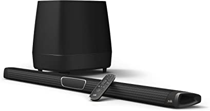 Polk Audio MagniFi Max Home Theater Sound Bar with 5.1 Dolby Digital Experience | Works with 4K & HD TVs | HDMI & Optical Cables, Wireless Subwoofer Included