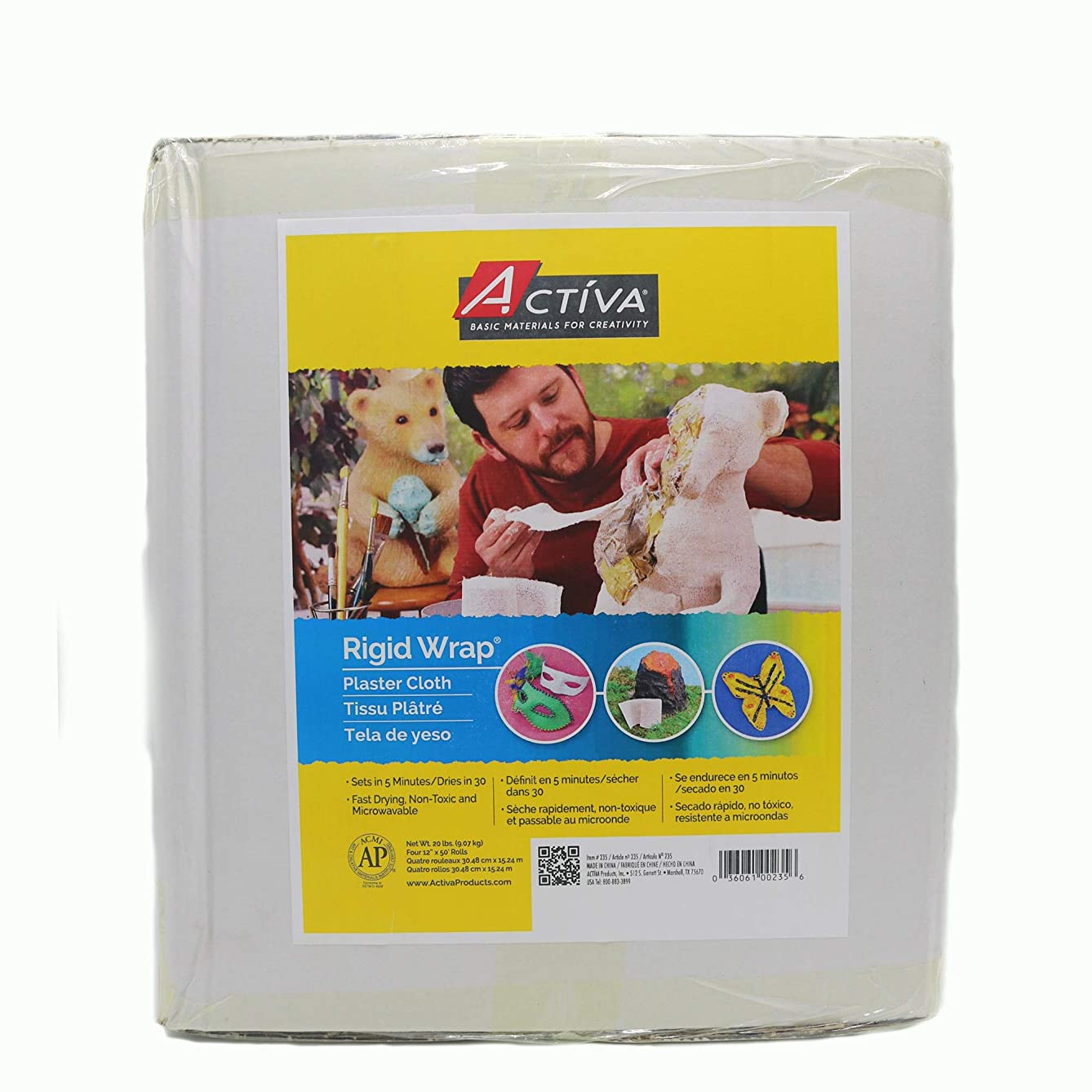Activa Products Rigid Wrap Plaster Cloth for Arts and Crafts, 20-Pound