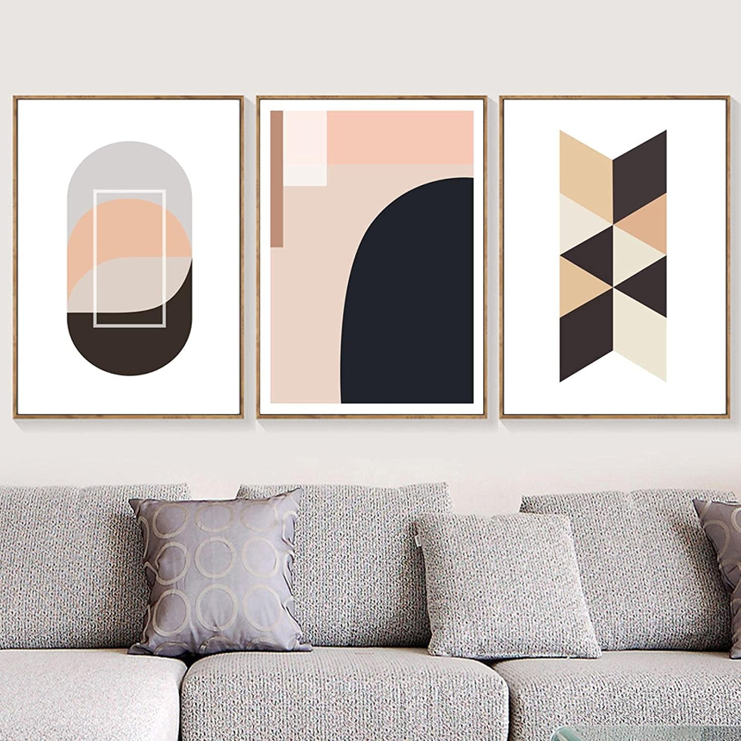 Abstract Color Geometric Ranking TOP12 Latest item Wall Art P Sea Mountain Canvas