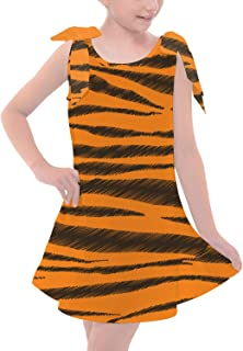 Rainbow Rules Tigger Stripes Winnie The Pooh Inspired Girls Shoulder Bow Dress
