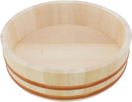 Wooden Sushi Oke Hangiri Rice Mixing Bowl