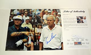 Jack Nicklaus & Arnold Palmer Golf Signed Autograph 11x14 Photo PSA/DNA COA #1