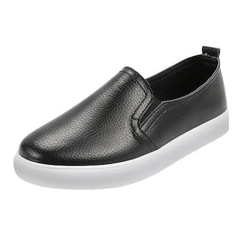 Zapatos Mujer, para Mujer Zapatos de Cuero Zapatos Slip on Zapatillas Planos Casuales Calzado Zapatillas