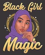 Black Girl Magic Notebook Journal: Muslim Hijab Shalya Islam Purple Melanin | Wide Ruled Notebook | Lined Journal | 100 Pages | 7.5 X 9.25