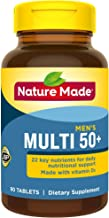 Nature Made Men's Multivitamin 50+ Tablets with Vitamin D, 90 Count (Packaging May Vary)