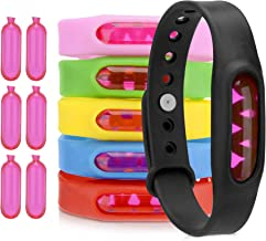 Holvon Mosquito Repellent Bracelet - Natural Anti-Bug Wristband for Kids and Adults - Adjustable Waterproof Band with 90-Day Protection at a 1-2m Radius - Soft and Wearable - 6-Pack with 6 Refills