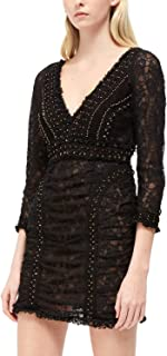 French Connection Womens Long Sleeve Lace Mini Dress