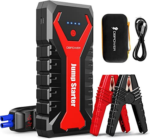 popular DBPOWER 2000A/20800mAh Portable Car Jump Starter (UP to 8.0L Gas/6.5L Diesel Engines) 12V Auto Lithium-Ion Battery Booster with Smart Clamp Cables, 2021 Quick new arrival Charge, and LED Flashlight online