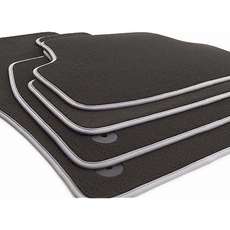 Fußmatten Passend Für A4 S4 Rs4 B8 8k A5 Sportback Premium Qualität Velours Autoteppiche Anthrazit 4 Teilig Nubukeinfassung Silber Auto
