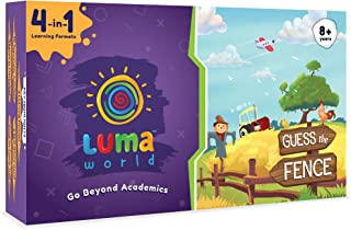 Luma World Guess the Fence 4-in-1 Educational Board Game STEM Activity Kit with 300+ Hours of Conceptual Activities for Ag...
