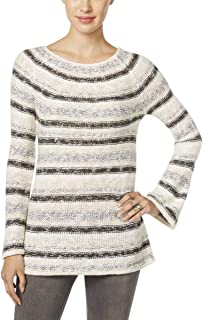 Style & Co. Womens Metallic Striped Pullover Sweater