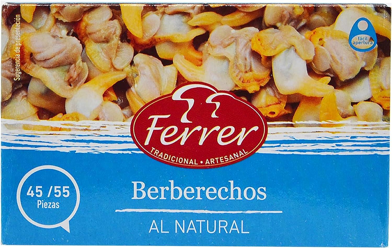 Ferrer - Pack 25+6 | Berberechos al natural | 45/55 pzs | Salsa aperitivo | Berberechos de pescado | Berberechos en lata | 102 g