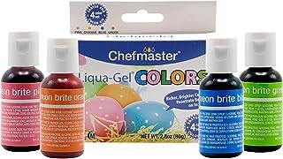Best Chefmaster Liqua-Gel (4-Pack) Easter Egg Decorating Kit for Kids, 2.8oz All Natural Food Color, Vibrant Food Colors for Easter Treats, Holiday Desserts & More, Neon Food Coloring & Egg Coloring Drops Review