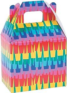 Fun Express - Fiesta Pinata Treat Box for Cinco de Mayo - Party Supplies - Containers & Boxes - Paper Boxes - Cinco de Mayo - 12 Pieces
