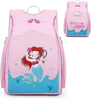 mommore Kids Backpack Cute Mermaid Toddler Backpack for Kids Age 5-9, Novel Design