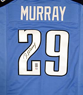 TENNESSEE TITANS DEMARCO MURRAY AUTOGRAPHED BLUE JERSEY PSA/DNA STOCK #112465