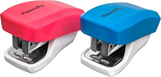 PraxxisPro, Mini Staplers, Built in Staple Remover, Staples 2 to 18 Sheets. Set of 2 (Blue, Pink) …