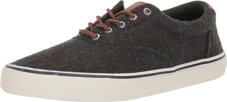 Sperry Men's Striper II Sneaker Plaid Direct sale of manufacturer CVO Wool Sales