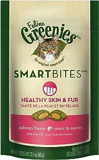 Feline Greenies Salmon SmartBites Skin & Fur 1.6Lbs (12 x 2.1oz)