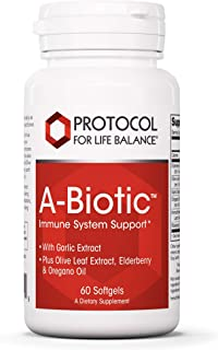 Protocol For Life Balance - A-Biotic - Immune System Support, Healthy Digestion, with Garlic, Olive Leaf, Elderberry and O...