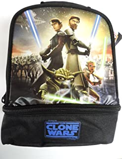 Star Wars Clone Wars Insulated Dual Compartment Lunchbox Lunch Bag