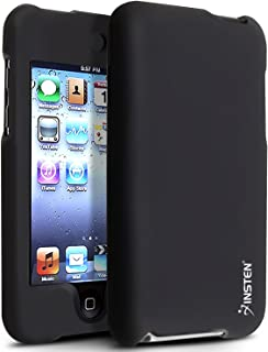 Insten Snap-On Rubber Coated Case for iPod touch 2G/3G (Black)