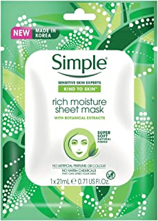 Simple Kind To Skin Rich Moisture Sheet Mask 21ml