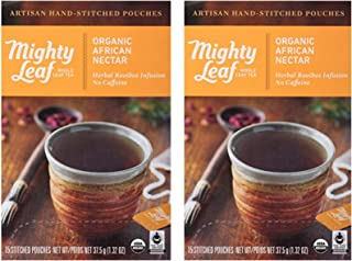 Mighty Leaf Tea Organic African Nectar Hand-Stitched Tea Bags (Pack Of 2)