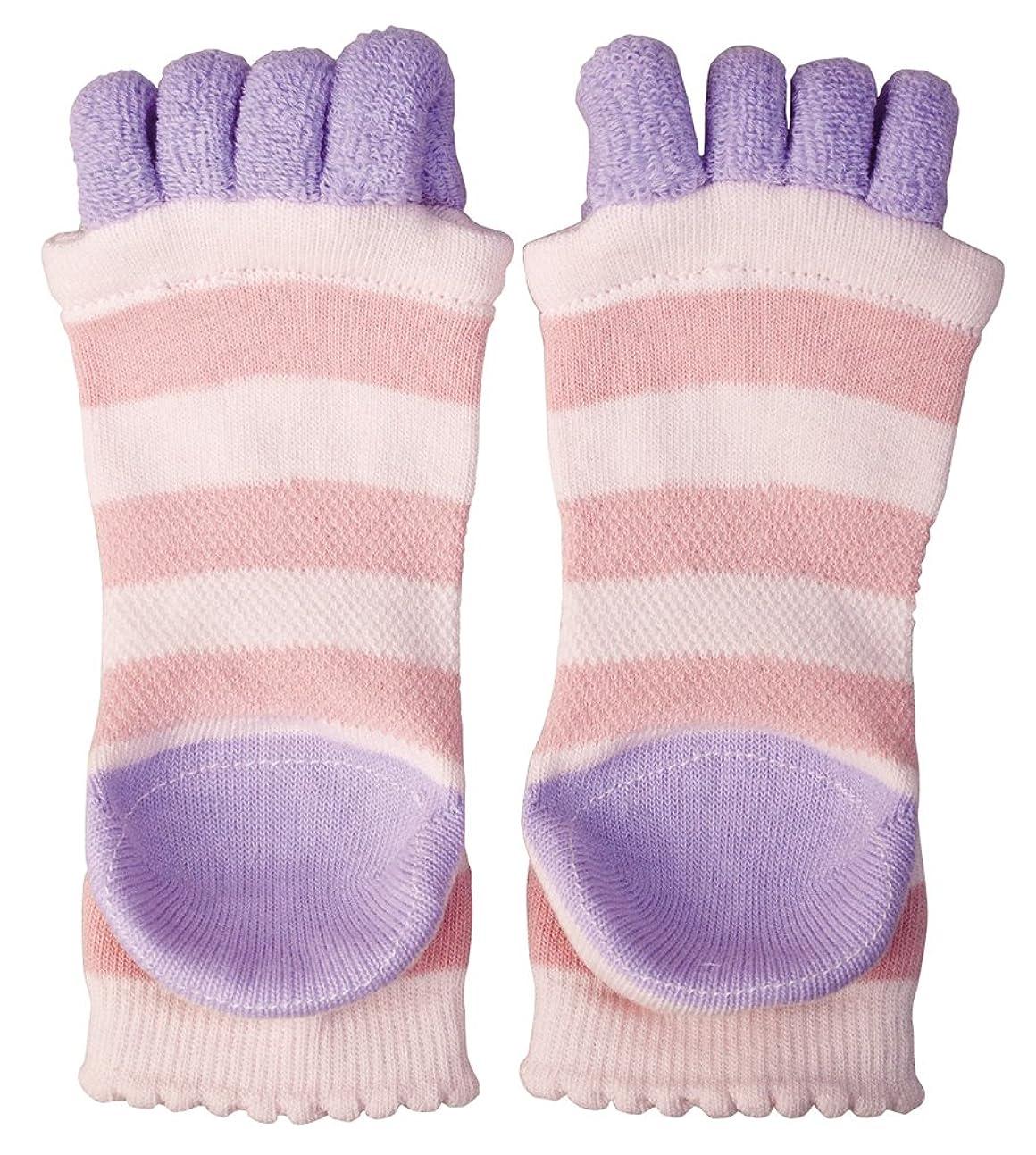 人種褒賞平日眠れる森の5本指 かかとソックス リラックス/靴下/ケア ピンク?AP-617105
