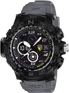 D Global Sylvi Youth Outdoor Sports Fashion Casual Multifunction Waterproof Analog Digital Black Dial Men's Watch