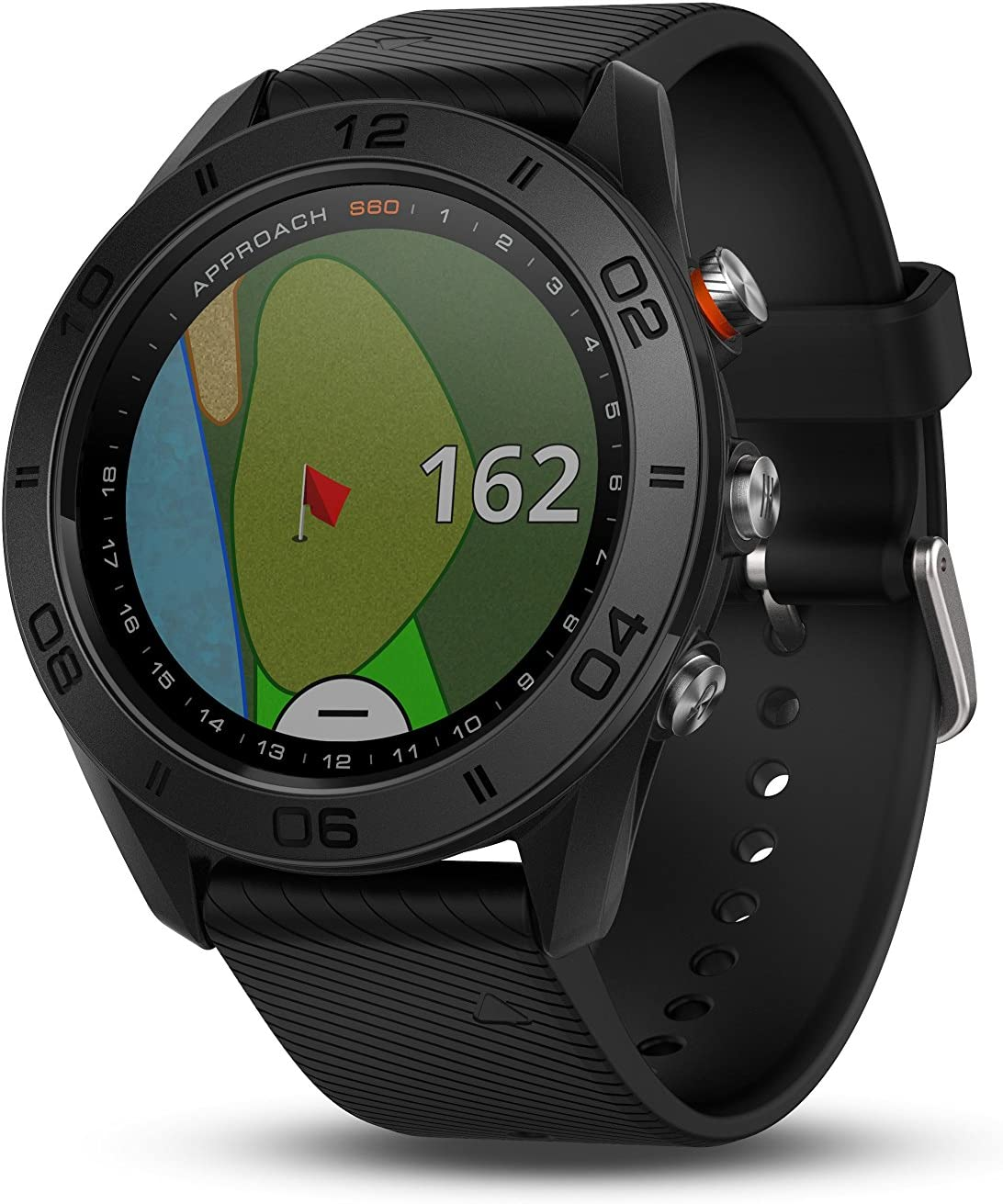 Garmin Approach S60, Premium GPS Golf Watch with Touchscreen Display and Full Color CourseView Mapping, Black w/ Silicone Band