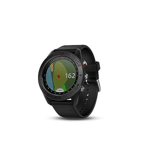 Garmin Approach S60 - Montre GPS de Golf - Noir avec bande de silicone