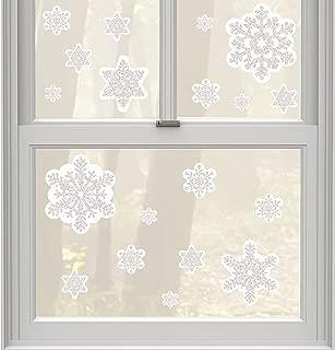amscan Christmas Snowflake Glitter Window Decoration, 19 Ct.   Vinyl