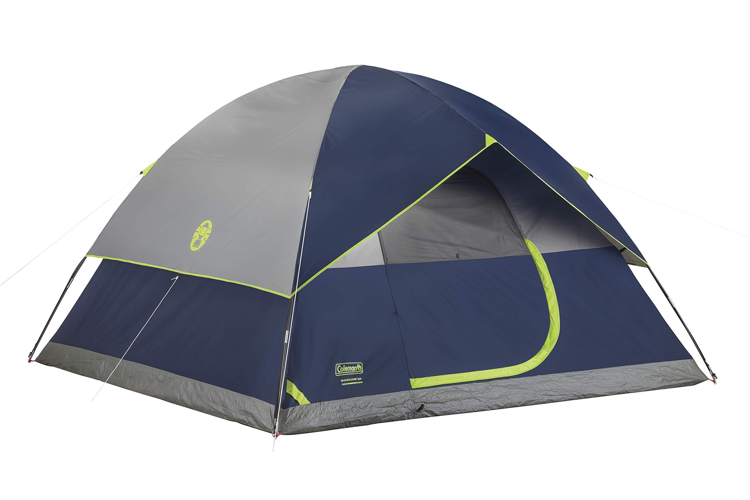 Coleman 4 Person Camping Sundome Setup