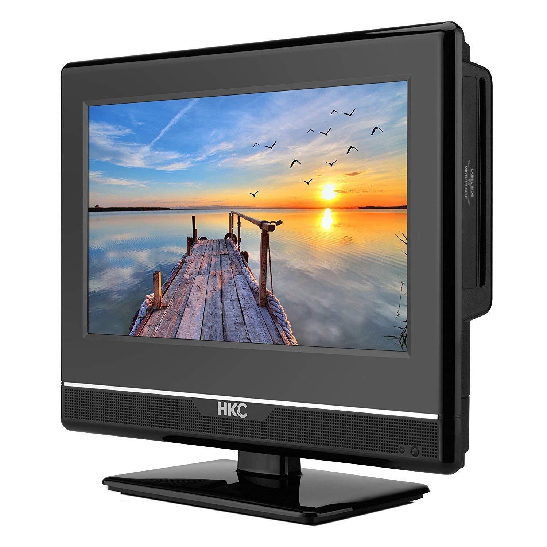 HKC 13M4C: Televisor LED de 33,8 cm (13 Pulgadas) con Reproductor de DVD (Full HD, Triple Tuner, Ci+, mediaplayer de USB 2.0, Cargador de Auto de 12 V): Amazon.es: Electrónica