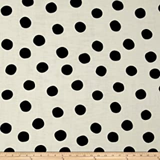 Birch Organic Fabrics Mod Basics 3 Double Gauze Pop Dots Fabric by The Yard, Black