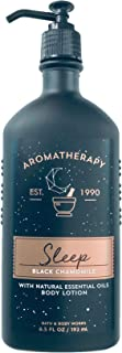 Bath and Body Works Aromatherapy Black Chamomile Sleep Body Lotion, 6.5 oz. (1 Pack)