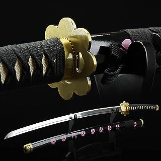 Auway Full Hand Forged Katana 1045 Carbon Steel Cosplay One Piece Roronoa Zoro Replica Sword