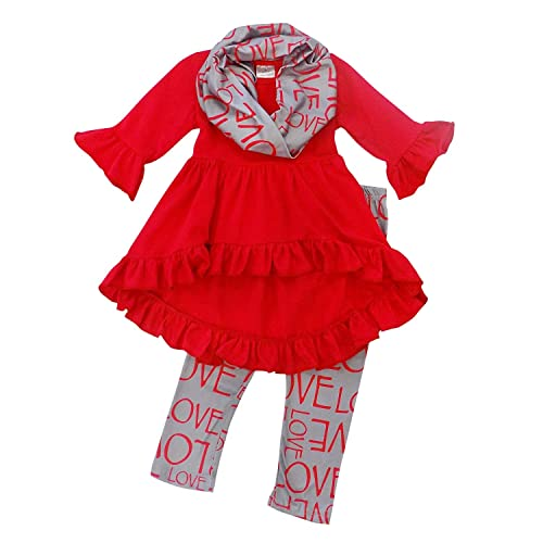 00d6cfb268e5 So Sydney Toddler Girls 3 Pc Valentine s or St. Patrick s Day Holiday  Outfit   Infinity