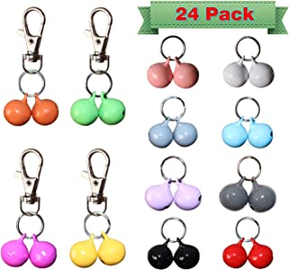 RYPET Cat Collar Bells (24 Pack), Strongest & Loudest Dog Collar Bells, Bell Training Charm Pendants for Pet Cat Dog Necklace Collar