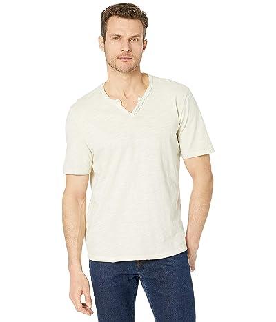 Mod-o-doc Topanga Short Sleeve Notch V-Neck Tee (Almond) Men
